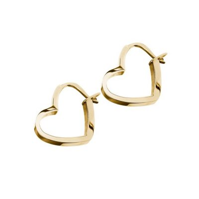 Oorbellen Open your heart earrings r heart earrings Edblad gold plated